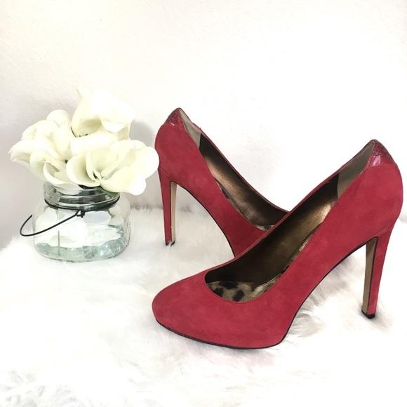 5e134e8f4d Sam Edelman Shoes | Yasmine Ruby Red Suede Heels Pumps | Poshmark